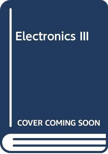 9780273021834: Electronics III