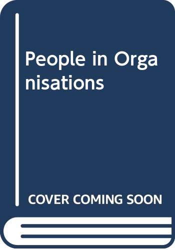 People in Organisations (0273022830) by Harrison, John; Bell, Valerie