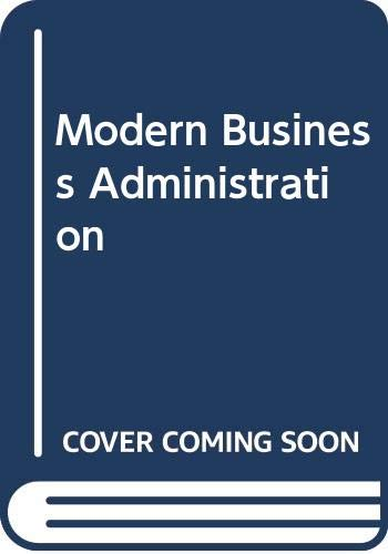 9780273025054: Modern Business Administration