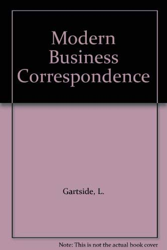 Modern Business Correspondence (0273025759) by L. Gartside