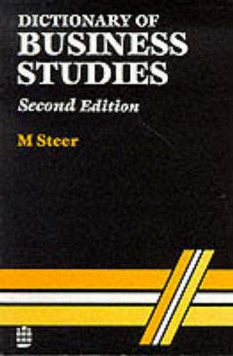 9780273030775: Dictionary of Business Studies