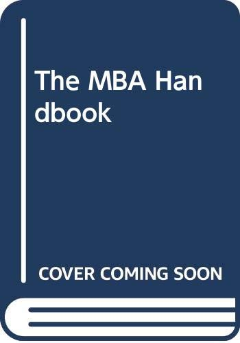 9780273033752: The MBA Handbook