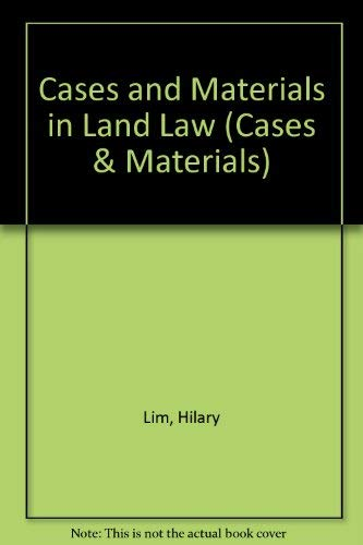 9780273033936: Cases and Materials in Land Law (Cases & Materials)
