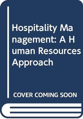 9780273033950: Hospitality Management: A Human Resources Approach