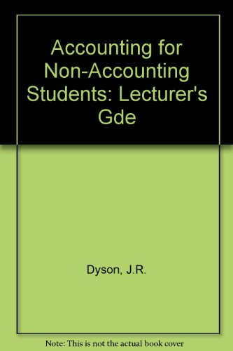 9780273035046: Accounting for Non-Accounting Students: Lecturer's Gde