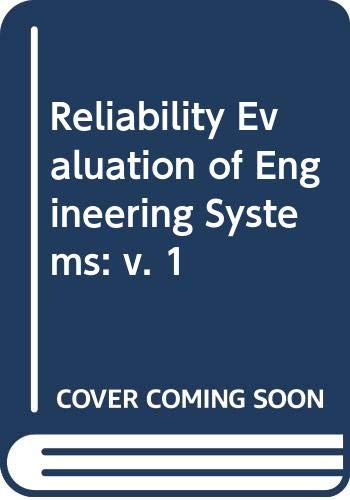 9780273084846: Reliability Evaluation of Engineering Systems: v. 1
