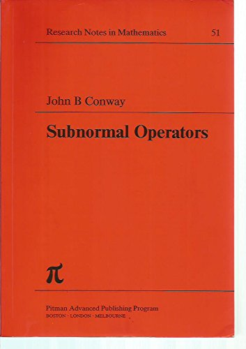 9780273085201: Subnormal Operators