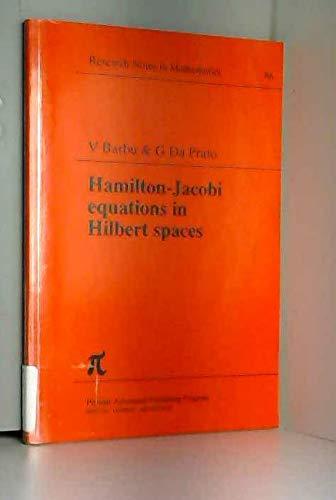 9780273085973: Hamilton-Jacobi Equations in Hilbert Spaces