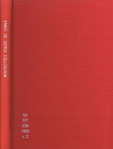9780273086802: Ennio De Giorgi Colloquium (Research notes in mathematics)