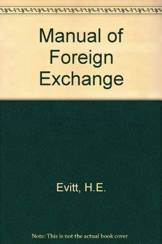 9780273314592: Manual of Foreign Exchange