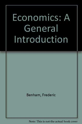 9780273316282: Economics: A General Introduction