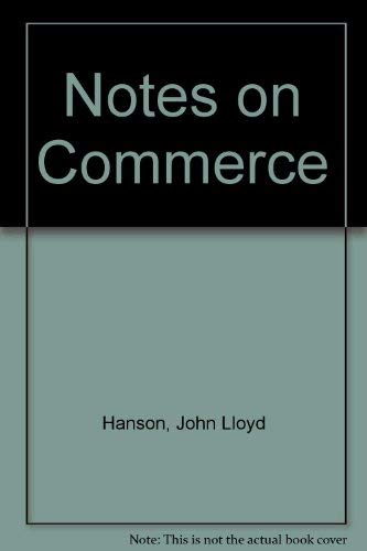 9780273360551: Notes on Commerce