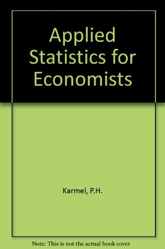 9780273402954: Applied Statistics for Economists