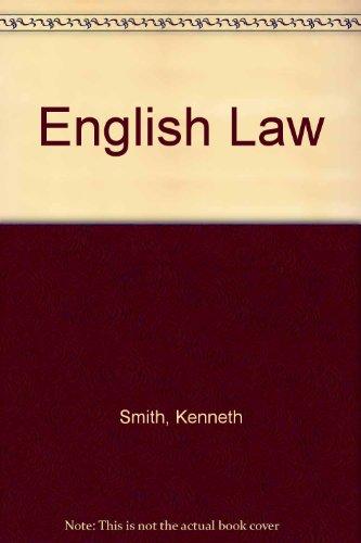 9780273403029: English Law