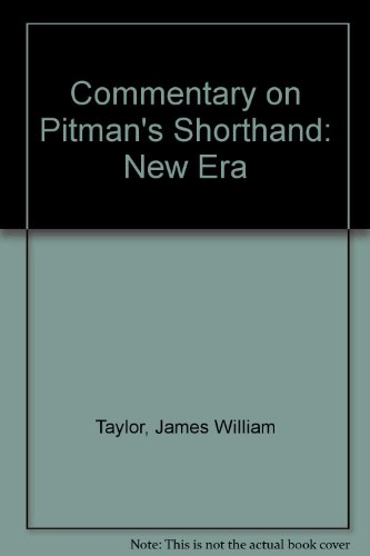 9780273405788: Commentary on Pitman's Shorthand: New Era