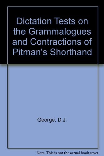 9780273409458: Dictation Tests on the Grammalogues and Contractions of Pitman's Shorthand