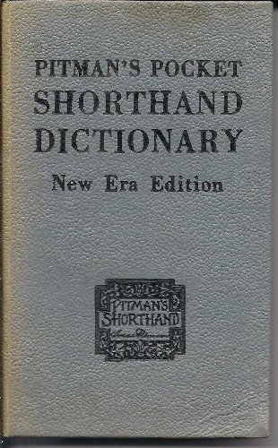 Pitman English Shorthand Book