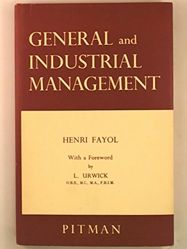 9780273414926: General and Industrial Management