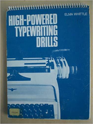 9780273416579: High-powered Typewriting Drills