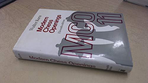 9780273418450: Modern Chess Openings