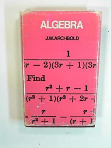 9780273439257: Algebra