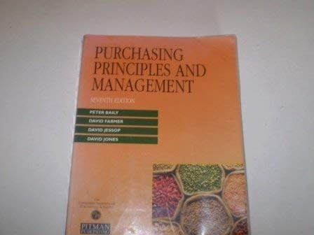 9780273603191: Purchasing Principles and Management
