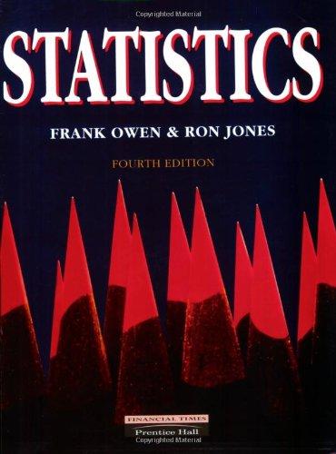 Statistics: Jones, Ron; Owen, Frank F.