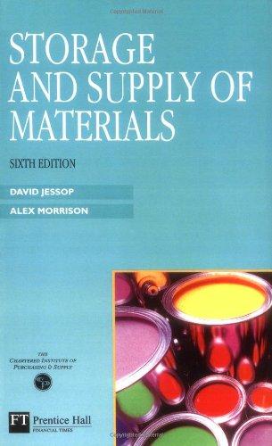 Storage And Supply Of Materials: Prof David Jessop,