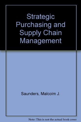 9780273603269: Strategic Purchasing and Supply Chain Management