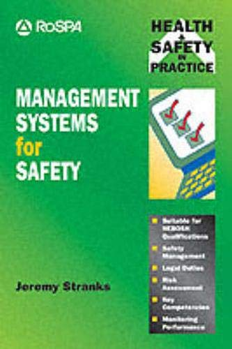 9780273604419: Management Systems for Safety (Health and Safety in Practice Series)