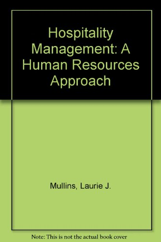 9780273605027: Hospitality Management: A Human Resources Approach