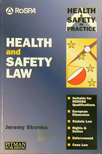 9780273607335: Health and Safety Law (Health & Safety in Practice)