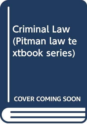 Criminal Law (The Foundation Studies in Law Series: Jefferson, Michael