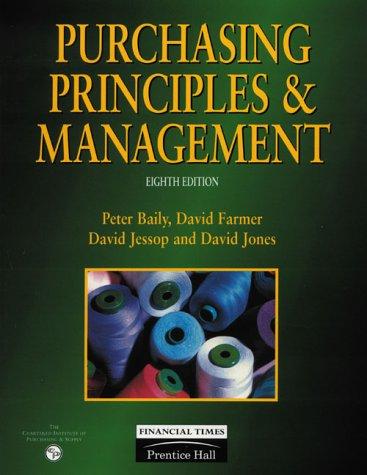 9780273623816: Purchasing Principles & Management