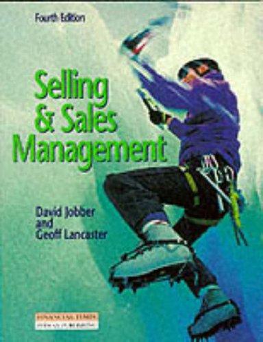 9780273625926: Selling & Sales Management