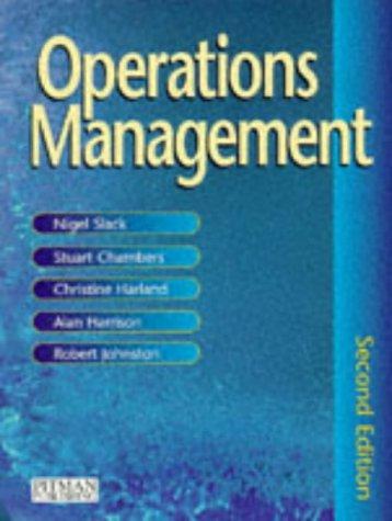 9780273626886: Operations Management