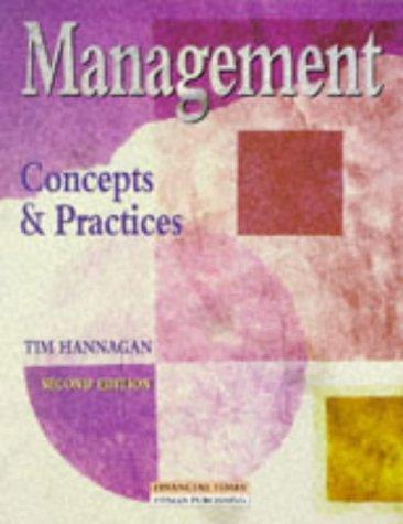 9780273631033: Management: Concepts & Practices