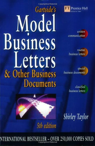 9780273633082: Gartside's Model Business Letters and Other Business Documents: & Other Business Documents