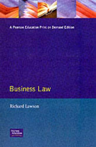 9780273634034: Business Law (Frameworks Series)