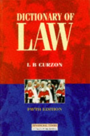9780273637356: Dictionary of Law
