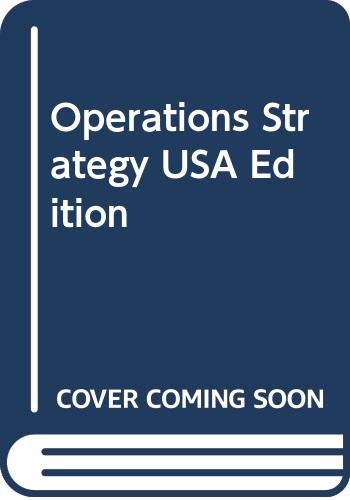 9780273637837: Operations Strategy USA Edition: Operations Strategy (USA Edn)