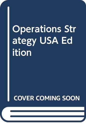 9780273637837: Operations Strategy USA Edition: Operations Strategy (USA Edn)