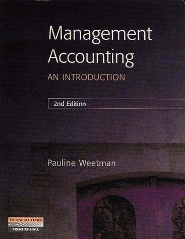 9780273638384: Management Accounting: An Introduction