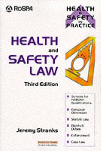9780273639268: Health and Safety Law (Health & safety in practice)