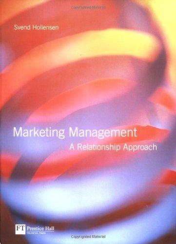 9780273643784: Marketing Management: A Relationship Approach