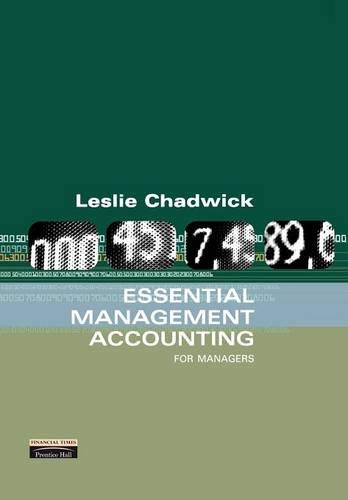 Essential Management Accounting: For Managers