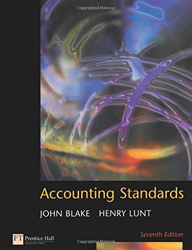 Accounting Standards (9780273646730) by John Blake; Henry Lunt