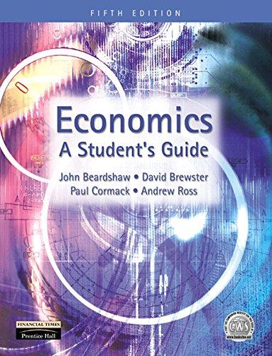 9780273651406: Economics: A Student's Guide