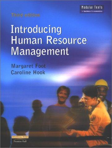 9780273651437: Introducing Human Resource Management (Modular Texts in Business & Economics)