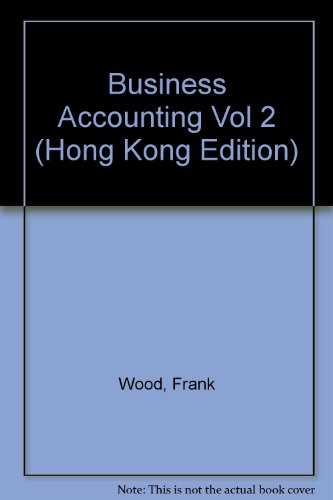 9780273651864: Business Accounting Vol 2 (Hong Kong Edition)